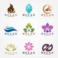 Logo vector set design for massage and spa business.