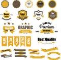 Vintage logo label style