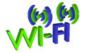 Logo wireless data network Stock Photo