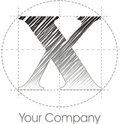 Logo x Arkivbild