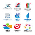 Logos for banks and finance companies collection of vector Stock Photography