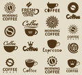 Logos on coffee Stock Photo