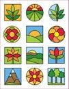Logos de nature Images libres de droits