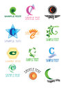 Logos with letter c a colourful set of company on white background Royalty Free Stock Photo