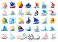 Logos ships and sailboats.