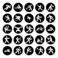 Logos of sports Stock Photo