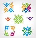 Logos teamwork people