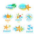 Logos for the travel and tourism collection of Stock Photo