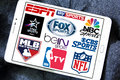 Logos of tv sports channels and networks