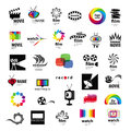 Logos tv video photo film collection of Royalty Free Stock Image