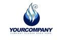 Logotipo da esfera do vapor Foto de Stock Royalty Free