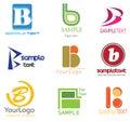 Logotipo da letra B Foto de Stock