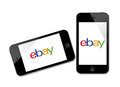 Logotipo de Ebay no iPhone Fotografia de Stock Royalty Free