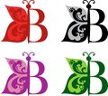 Logotype Butterfly and letter B Royalty Free Stock Photo