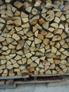 Logs for winter ready Stock Photography