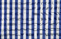 Loincloth the blue and white show a curve Royalty Free Stock Photos