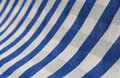 Loincloth the blue and white show a curve Royalty Free Stock Images