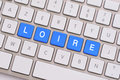 Loire in blue on white keyboard Royalty Free Stock Photo