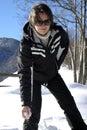 Loisirs de l'hiver Photo libre de droits