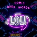 LOL neon sign vector. LOL pop art Design template neon sign, light banner, neon signboard, nightly bright advertising, light Royalty Free Stock Photo
