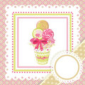 Lollipop bouquet on frame Royalty Free Stock Photography