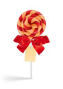 Lollipop with bow and tag illustration of colorful Royalty Free Stock Photography
