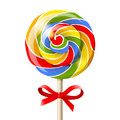 Lollipop bright colorful over white background Royalty Free Stock Photos