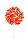 Lollipop candy isolated on white Stock Photo