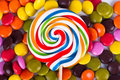 Lollipop Candy on Stick Royalty Free Stock Photo