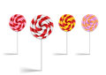 Lollipop collection illustration of colorful isolated Royalty Free Stock Image