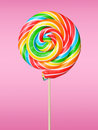 Lollipop colorful on pink background Royalty Free Stock Image