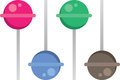 Lollipop colors different colored and flavored lollipops Royalty Free Stock Photo
