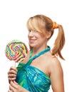 Lollipop girl Royalty Free Stock Photo