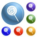 Lollipop icons set vector