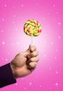 Lollipop on white Royalty Free Stock Photo