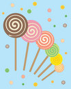 Lollipops abstract Royalty Free Stock Photography