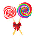 Lollipops background Stock Images