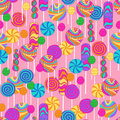 Lollipops Candy Repeat Pattern Stock Photography
