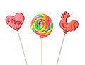 Lollipops colorful lollipop isolated on white background Royalty Free Stock Photography