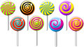 Lollipops Lollipop Collection  Spiral Swirly Royalty Free Stock Photo