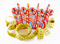 Lollipops and meter Royalty Free Stock Image