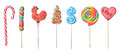 Lollipops set of colorful isolated on white background Royalty Free Stock Image
