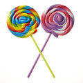 Lollipops swirl on white background Royalty Free Stock Images