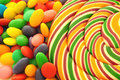 Lolly pop and sweets Royalty Free Stock Photo