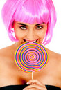 Lollypop girl Stock Images