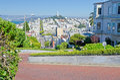 Lombard Street in San Francisco, USA Royalty Free Stock Photo