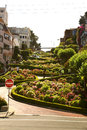 Lombard x crooked x street san francisco usa famous for a steep one block section with eight hairpin turns claimed as the most Stock Photo
