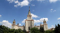 Lomonosov moscow state university main building russia Royalty Free Stock Photos
