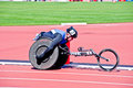 London 2012: athlete on wheelchair Stock Image
