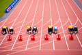 London 2012: athletes ready to race Stock Photography